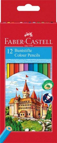 Creioane colorate,12b/set,Faber