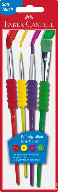 Pensule Faber Soft Touch,4buc/set
