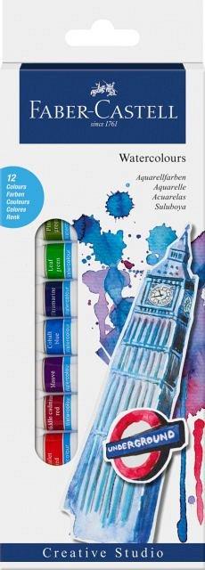 Tempera Faber,12 culori,diam.12mm