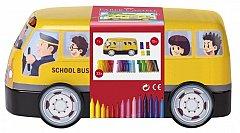 Markere pt copii,33b/set,Autobuz Faber
