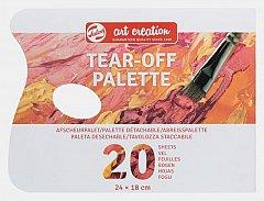 Paleta amestec culori,Art Creation,18x24cm,unica folosinta