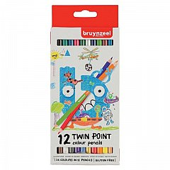 Creioane colorate,Bruynzeel,TwinPoint,12buc/set