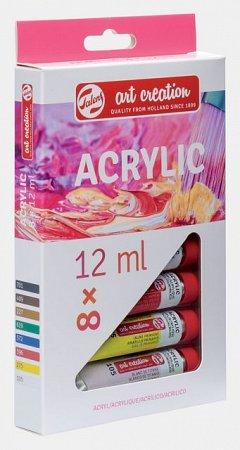 Tub culori acrilice,Art Creation,12ml,8buc/set