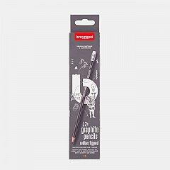 Creion grafit,HB,cu radiera,Bruynzeel,12buc/set