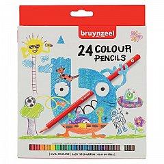 Creioane colorate,Bruynzeel,Cardboard,24buc/set