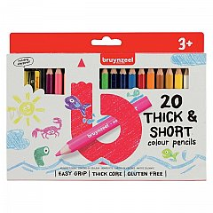 Creioane colorate,Bruynzeel,Thick&Short,20buc/set