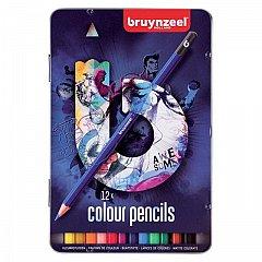 Creion colorat,Bruynzeel,12buc/cut.metal,dark