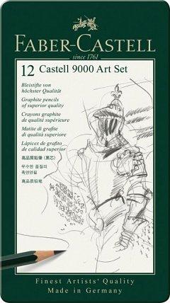 Creion grafit,Castell 9000 Art,12buc/cut.metal