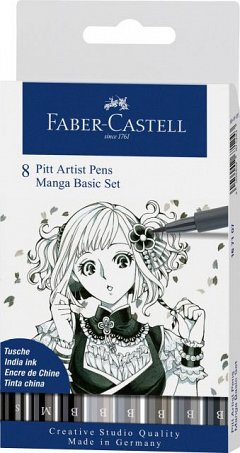 Set Pitt Artist Pen Manga Basic,8buc/set