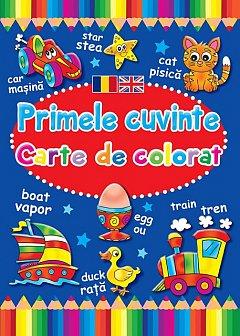PRIMELE CUVINTE. CARTE DE COLORAT ROM-ENG