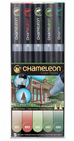 Marker Chameleon,5b/set,Nature Tones