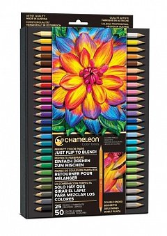Creioane colorate Chameleon,25buc,50culori