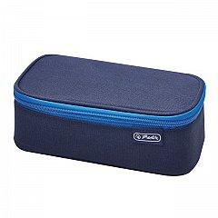 Penar tip borseta Herlitz, Be.Bag Beat Box, 22.5x12x7 cm, albastru