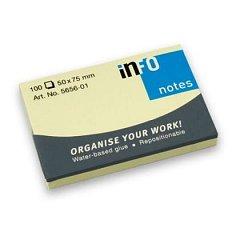 Notite adezive Info Notes,50x75mm,100file,galben