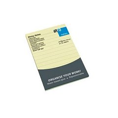 Notite adezive Info Notes,100x150mm,100 file,liniat, galben