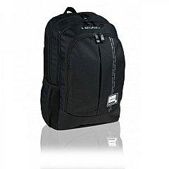 Rucsac Head Smart Black II, 46.5x32x18cm, 3 compartimente, pentru laptop