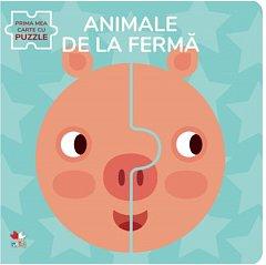 ANIMALE DE LA FERMA. PRIMA MEA CARTE CU PUZZLE
