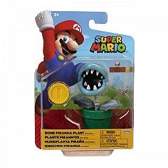 Figurina Mario Nintendo, 10 cm, Piranha plant