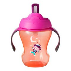 Tommee Tippee, Cana First Drink cu pai, 230ml, roz