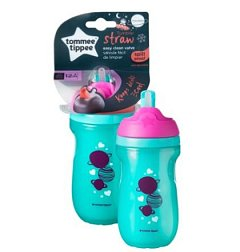 Tommee Tippee, Cana cu pai Izoterma, 260ml, roz/turquoise