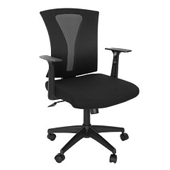 Scaun birou ergonomic Vector, material textil, sezut negru