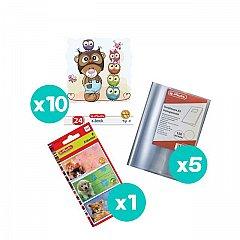 Set 10 caiete tip II + coperti + etichete