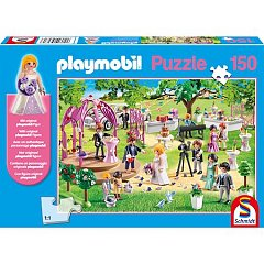 Puzzle Schmidt - Playmobil, Marriage, 150 piese, include 1 figurina Playmobil (56271)