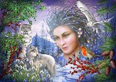 Puzzle Bluebird - Marchetti Ciro: Spirit Of Winter, 1.000 piese (70181)
