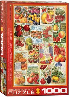 Puzzle Eurographics - Fruits Seed Catalogue, 1.000 piese (56023)