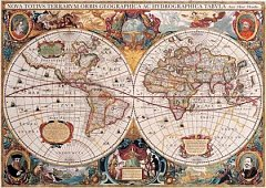 Puzzle Gold Puzzle - Old World Map, 1.000 piese (Gold-Puzzle-60096)