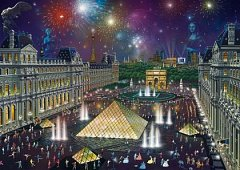 Puzzle Schmidt - Alexander Chen: Fireworks At The Louvre, 1.000 piese (59648)