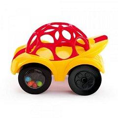 Minge OBALL Rattle & Roll pentru copii, Rosu si galben