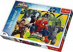 Puzzle Trefl - Spider-Man in actiune, 260 piese