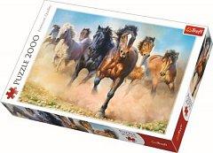 Puzzle Trefl - Herghelie de cai galopand, 2000 piese