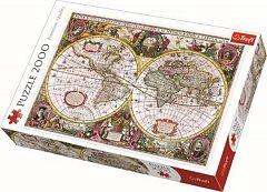 Puzzle Trefl - Harta noua a mapamondului, 2000 piese