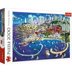 Puzzle Trefl - Golful San Francisco, 2000 piese