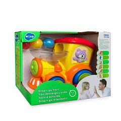Jucarie interactiva Hola Toys - Locomotiva cu bile, sunete si lumini
