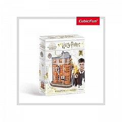 Puzzle 3D CubicFun - Harry Potter - Magazin Weasleys, 62 piese