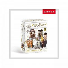 Puzzle 3D CubicFun - Harry Potter 4in1 - Aleea Diagon, 273 piese