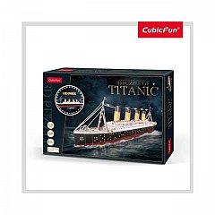 Puzzle 3D LED CubicFun - Titanic, 266 piese