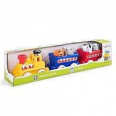 Trenul de Circ Viking Toys Maxi cu animalute