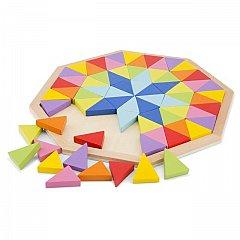 Puzzle lemn Octogon, New Classic Toys