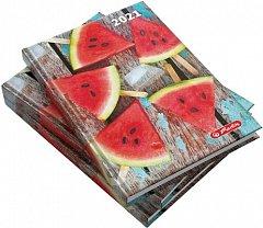 Agenda A5, datata 2021, Zentangle, 352 pagini, motiv Watermelon