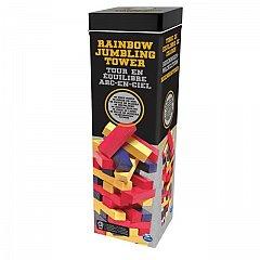 Joc Turnul buclucas, cu piese colorate, in cutie de metal