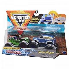 Set masini Monster Jam - Grave Digger si Grave Digger Chesapeake, color change, 1:64