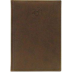 Agenda A5, datata 2021, Dakota, 336 pagina, maro inchis
