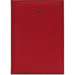 Agenda A5, datata 2021, Dakota, 336 pagina, rosu