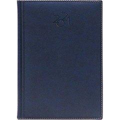 Agenda A5, datata 2021, Dakota, 336 pagina, bleu