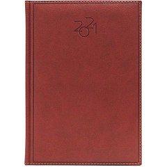 Agenda A5, datata 2021, Dakota, 336 pagina, maro roscat