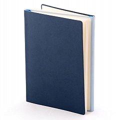 Agenda A5, nedatata 2021, Twin, 224 pagini, albastru cu bleu